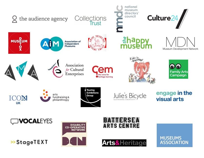 An image showing the logos of organisations in the Museums Support Alliance